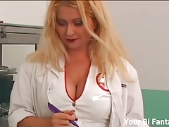 Strapon fucked by your naughty nurse