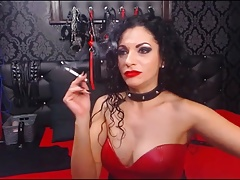 BDSM milf smoking a cigarette