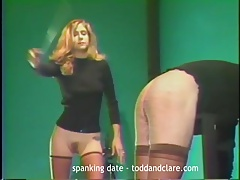 severe bare ass caning